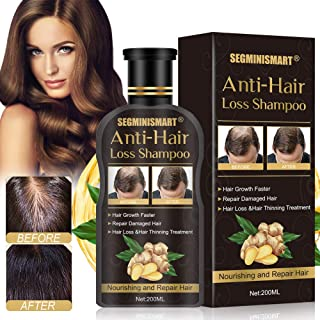 Hair Growth Shampoo,Anti-Hair Loss Shampoo,Hair Loss shampoo,Ginger Hair Care Shampoo Helps Stop Hair Loss,Promotes Thicker,Fuller and Faster Growing Hair for Men & Women