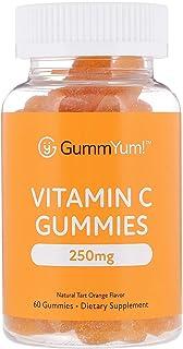 GummYum! Vitamin C Gummies, Natural Tart Orange Flavor, 250 mg, 60 Gummies