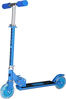 Rugged Racers 2 Wheel Scooter – Kids Scooters for Boys and Girls – Adjustable Height – Step-on Rear Brake – Travel-Friendl...