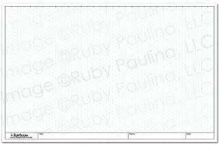 11x17 Isometric Grid Pad, White (579680)