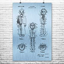 Patent Earth Ventriloquist Dummy Poster Print, Ventriloquism Gifts, Prop Comedian, Stand Up Theater, Vaudeville Act, Sailor Puppet Blue Steel (12