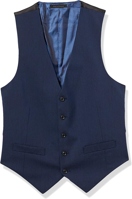 Billy London mens Slim Fit Suit Vest