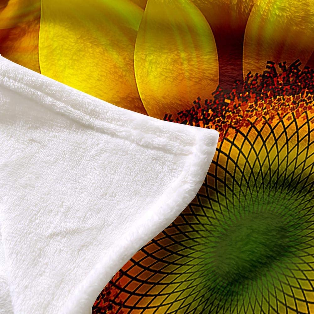 GGYDKA Couverture pour Enfants Fleur du Soleil180Cmx240Cm 100% Polyester avec Polaire Moelleuse, Confortable Et Chaud 3D Impression Numérique Couverture 80cmx120cm