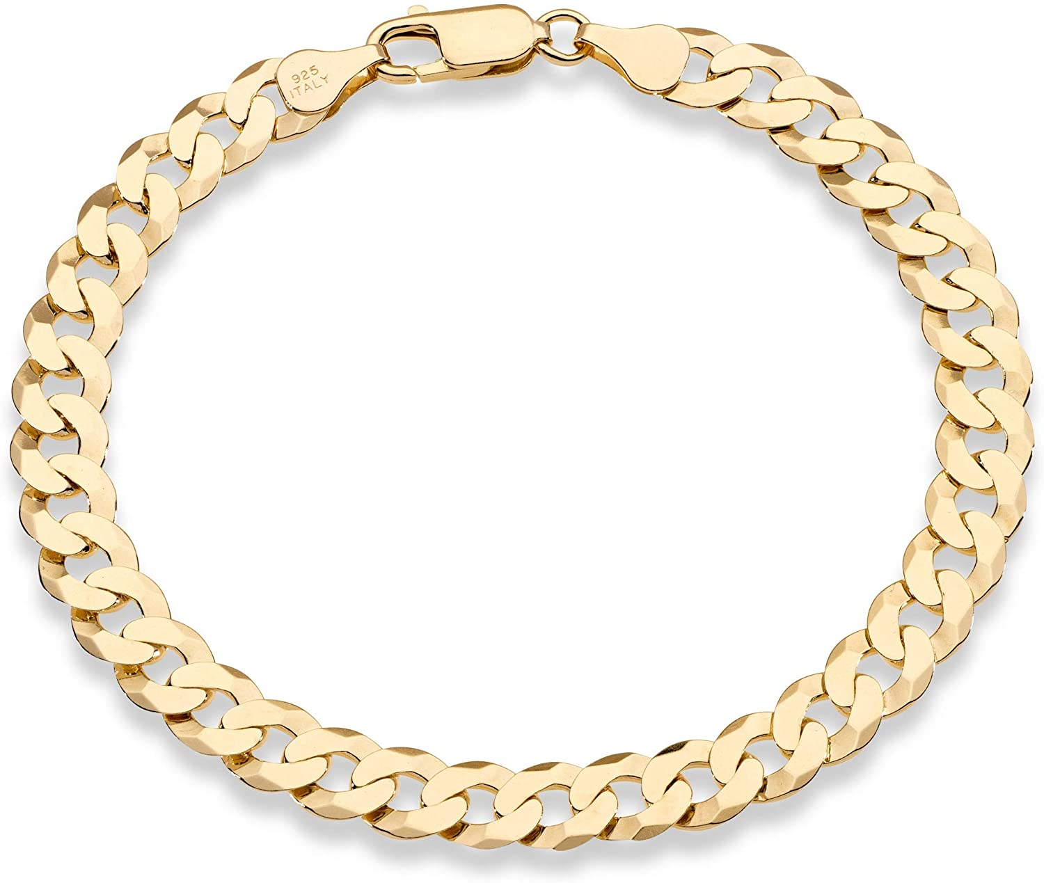 Miabella 18K overseas Gold A surprise price is realized Over Sterling 7mm Diamond Solid Italian Silver