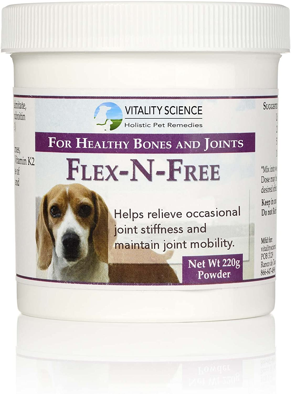 FlexNFree 220g for Dogs  Joint Flexibility, Bone Integrity, Pain Relief