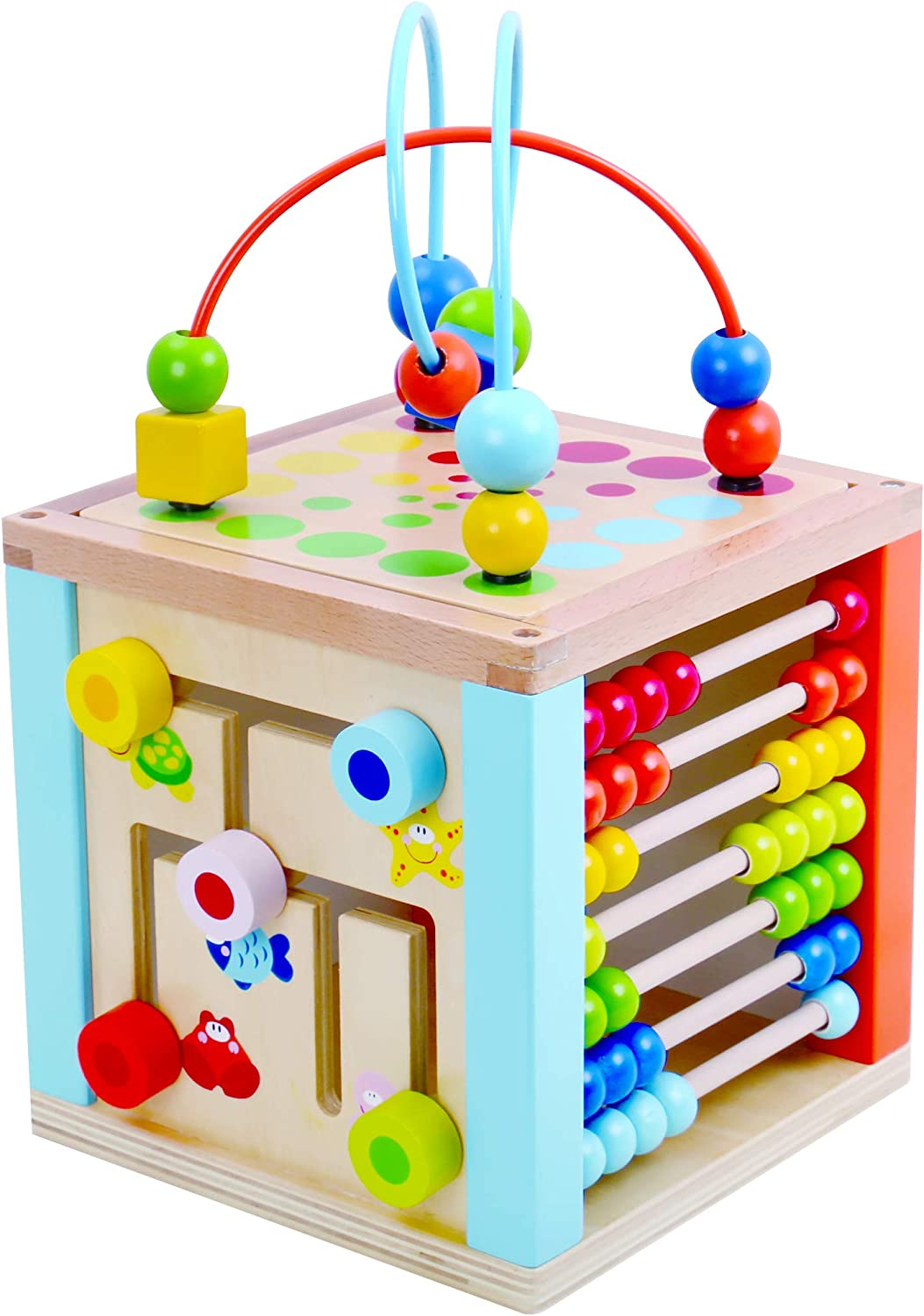 Tooky Toys 5 in 1 Multi Functional Activity Play Cube
