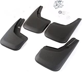 Sizver NO-DRILL Mud Guards Flaps Splash Guards Molded Front&Back For 2014-2018 Chevy Silverado 1500 OE style