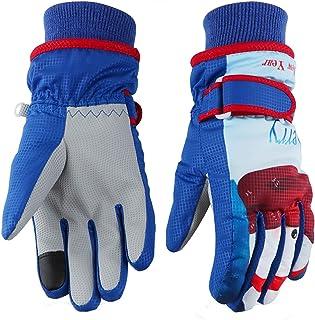 儿童滑雪手套,冬季温暖*防水透气雪手套,男孩女孩儿童滑雪,单板滑雪,防风青少年保暖手套 GL8