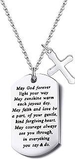 FUSTMW Baptism Gift Godson Goddaughter Gift Christening Gift Christian Keychain First Communion Gift Baby Dedication Gift ...