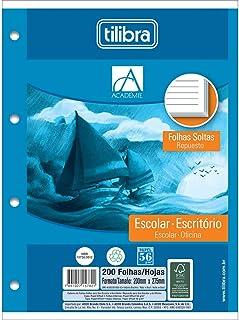 Refil Tiliflex para Caderno Argolado Universitário Folhas Soltas, Tilibra, Académie, 157821, 20x27.5cm, Branca, 200 Folhas