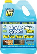 Simple Green Oxy Solve Deck and Fence Pressure Washer Cleaner – Concentrate 1 Gal