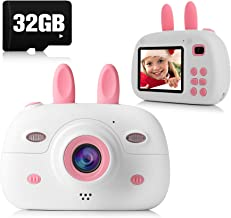 Kids Camera, 8.0MP 1080P Digital Video Camera Rechargeable Child Camcorder Shockproof Kids Toy Camera With 2.4″ IPS Screen, 32GB TF Card, OTG Function, Gift for 3-12 Years Old Girls Boys Party Outdoor