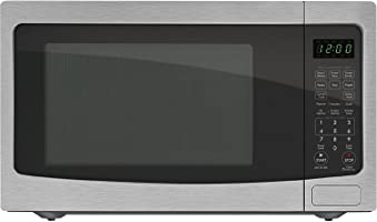 Chef Star CS73163 1.6 cu.ft. 1100-watts Countertop Microwave Stainless Steel w/Black Cabinet (Certified Refurbished)