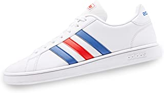 Adidas Grand Court Base, Scarpe da Tennis, Uomo, Bianco (ftwr white/blue/active red), 44 EU