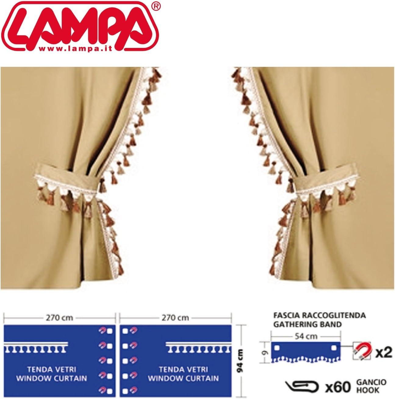 Cortinas para Camiones Cabina Normal Beige Lampa Guerrero perim/étricas
