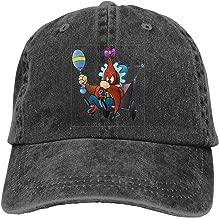 LUCY FOSTER Looney Tunes Yosemite Sam Adjustable B-boy Cotton Washed Denim Hats Black