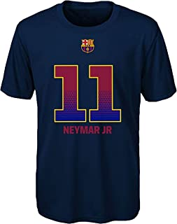 Neymar Jr F.C. Barcelona Navy Blue Youth Performance Name Number Shirt