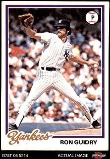1978 Topps # 135 Ron Guidry New York Yankees (Baseball Card) Dean's Cards 4.5 - VG/EX+ Yankees