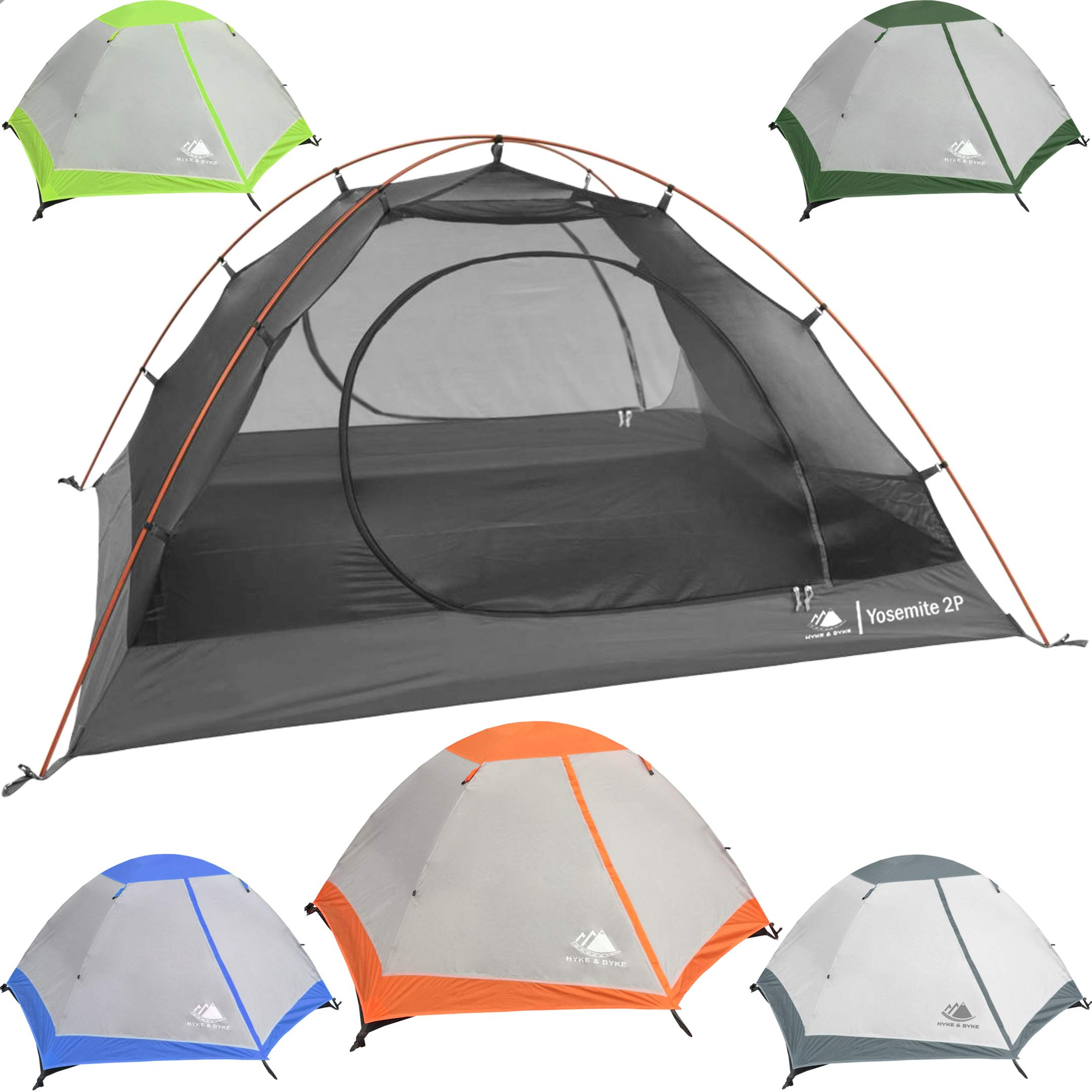 Hyke u0026 Byke Yosemite 1 and 2 Person Backpacking Tents with Footprint - Lightweight Two Door  sc 1 st  Amazon.com & Lightweight Tents for Backpacking: Amazon.com