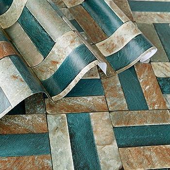 Rabbitgoo Papier Peint Adhesif Decoratif Brique Pour Meuble
