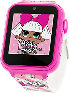 Touch-Screen Smartwatch, Built in Selfie-Camera, Easy-to-Buckle Strap, Pink Smart Watch - Model: LOL4104