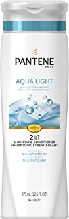 Pantene Pro-V Aqua Light 2in1 Shampoo + Conditioner 12.6 Fluid Ounce (Pack of 2) (packaging may vary)