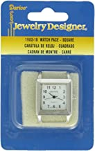 Darice Square Watch Face, Silver