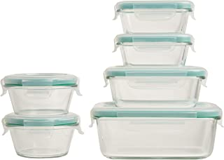 OXO Good Grips Smart Seal Leakproof Glass Food Storage Container Set 12 Piece transparent 11230200
