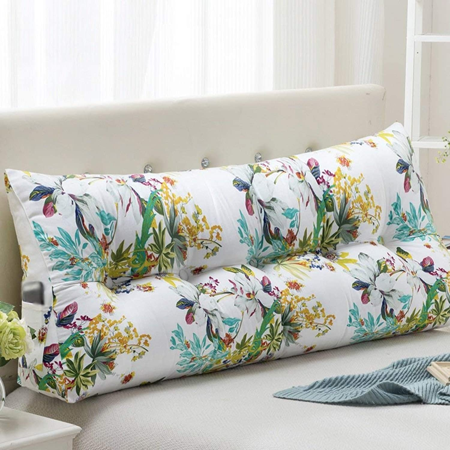 Bed Head Cushion Bed Back Pad Triangle Bed Pillow Bedside Soft Bag Pillow Lumbar Positioning Supports Reading Comfortable Headrests, QiXian