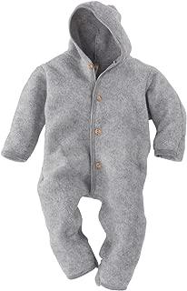Merino Wool Organic Fleece Baby Newborn Romper Hooded Footed