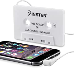 Insten Car Cassette Tape Deck Adapter Compatible with 3.5mm Jack Audio MP3/CD Player Compatible with Samsung Galaxy S10/S10 Plus/S10e