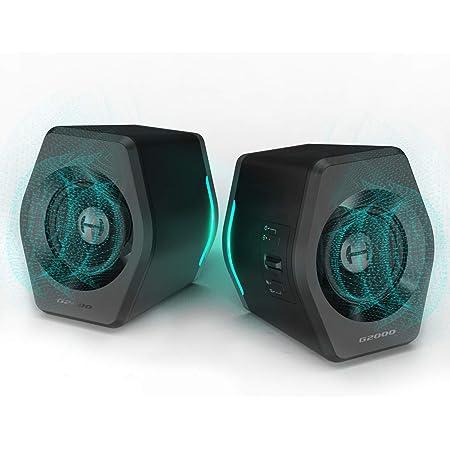 Edifier G2000 PC Computer Speakers for Desktop, Gaming, Laptop, Mac,Woofer Speakers Bluetooth, Bass Multimedia Speakers RGB Lights, USB 3.5mm AUX inputs,Black