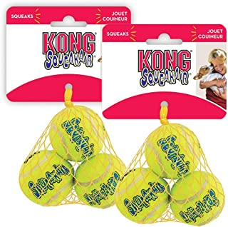 KONG Air Squeaker Tennis Balls Small Two Pack