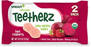 Sprout Organic Baby Food Teetherz Beet Rasberry Teething 30 Wafers,, Pack of 1