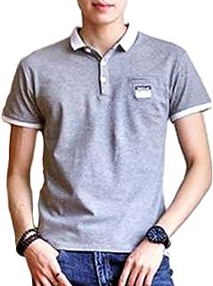 [アルトコロニー] 【在庫一掃セール】快適な ポロシャツ シンプル 胸ポケット 半袖 カジュアル 夏用 綿 スリム お洒落 綿 M ~ XL メンズ