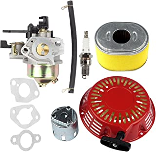 Hilom Carburetor Carb with Recoil Starter Cup Air Filter for Honda GX240 8.0HP GX270 9HP Engine Replaces #16100-ZE2-W71 16100-ZH9-W21 1616100-ZH9-820