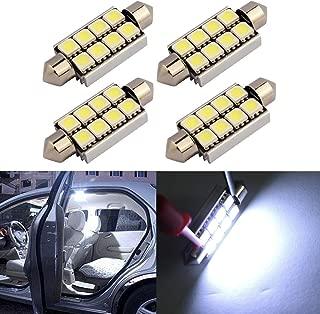 KOYA 4 x 41mm 5050 8 LED Chips Canbus Error Cool White Festoon LED Light Bulbs Interior Map Door Lamp