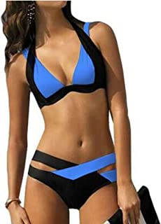 Biquíni feminino de verão Gaorui, sexy, retrô, multicolorido, push-up, traje de banho para praia
