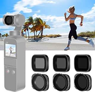 Neewer Magnetic Filter Set for DJI Osmo Pocket Camera Lens, Includes Multi-Coated ND4 ND8 ND16 CPL ND32/PL ND64/PL Filters with Carrying Box for Outdoor Photography (Black)