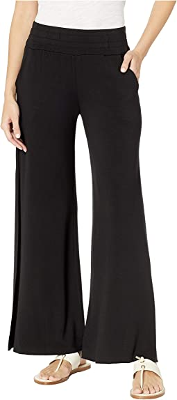Seventh Ray Lightweight Modal Terry Pants with Side Slits