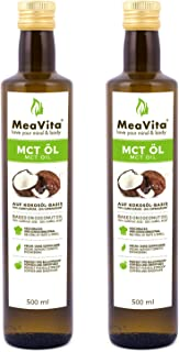 MeaVita MCT Öl, Premium Qualität 2 x 500 ml