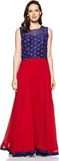 SOCH Women's georgette anarkali Salwar Suit Set (SALE CD 30005_ Royal Blue_ 2xl)