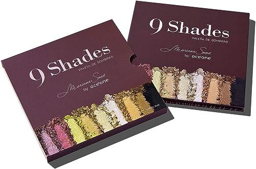 Paletas de Sombras, 9 Shades, Mariana Saad, Océane, Océane, 5 Opacas (Pumpkin, Dark Brown, Wine, Soft Brown E Black) ...