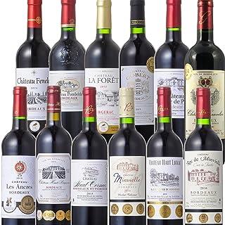 王道 ボルドー 金賞受賞 赤ワイン 飲み比べ セット(750ml×12本) …