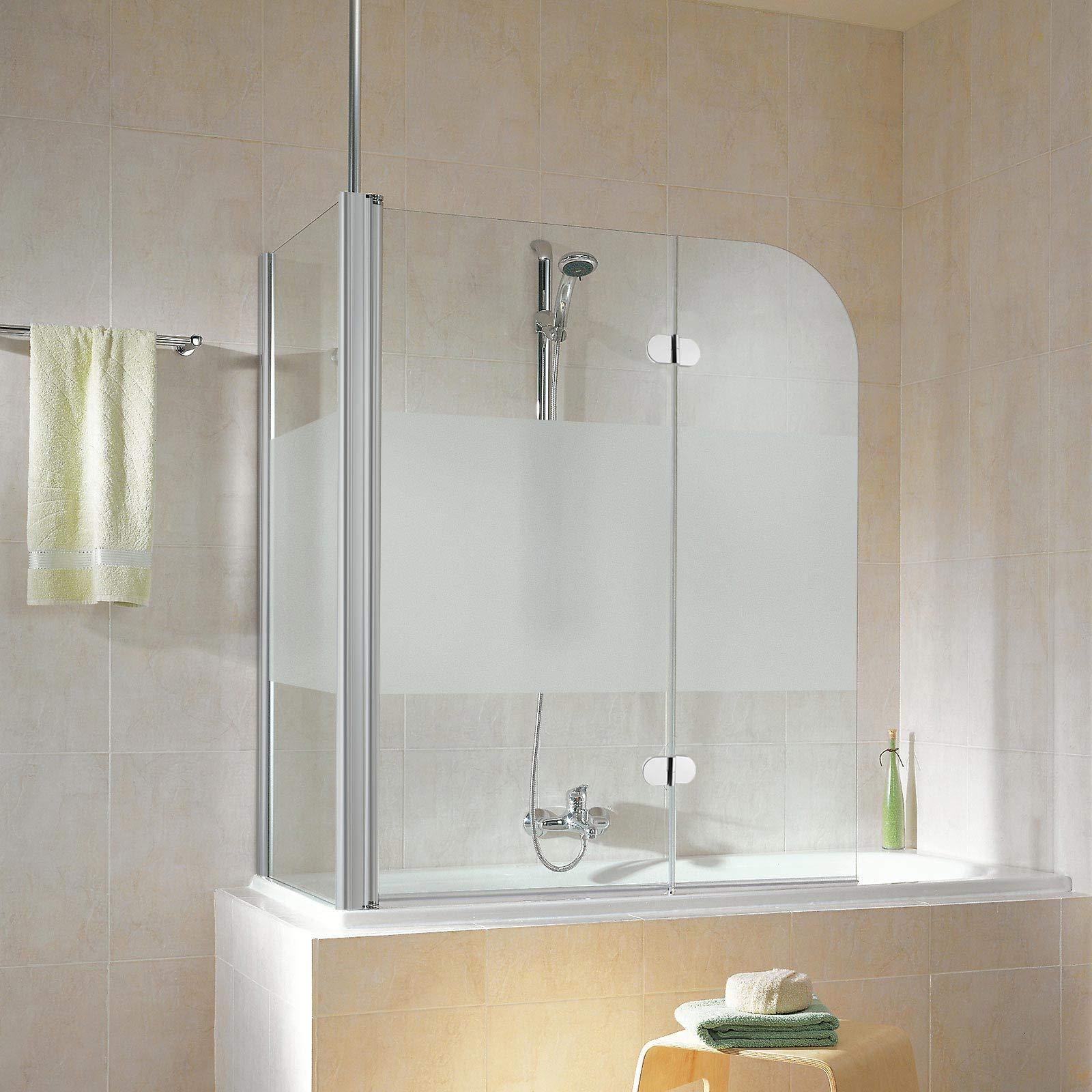 Schulte D81101 01 100 32 5 Garant - Mampara de ducha con pared lateral para bañera, color gris: Amazon.es: Bricolaje y herramientas
