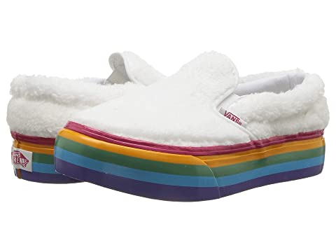 91229c64f76 Vans Kids Classic Slip-On Platform (Little Kid Big Kid) at Zappos.com