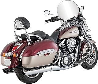 Vance & Hines 09-14 Kawasaki VN1700B Twin Slash Rounds Slip-On Exhaust (Chrome / 4