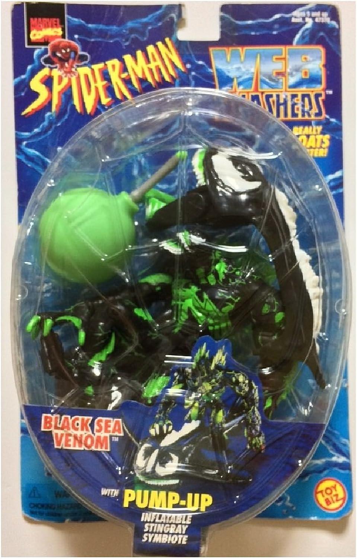Disfruta de un 50% de descuento. negro SEA VENOM with Pump-Up Inflatable Stingris Symbiote Symbiote Symbiote  Web Splashers Series  1997 Marvel Comics Spider-Man Acción Figura & Accessories by Marvel  ganancia cero