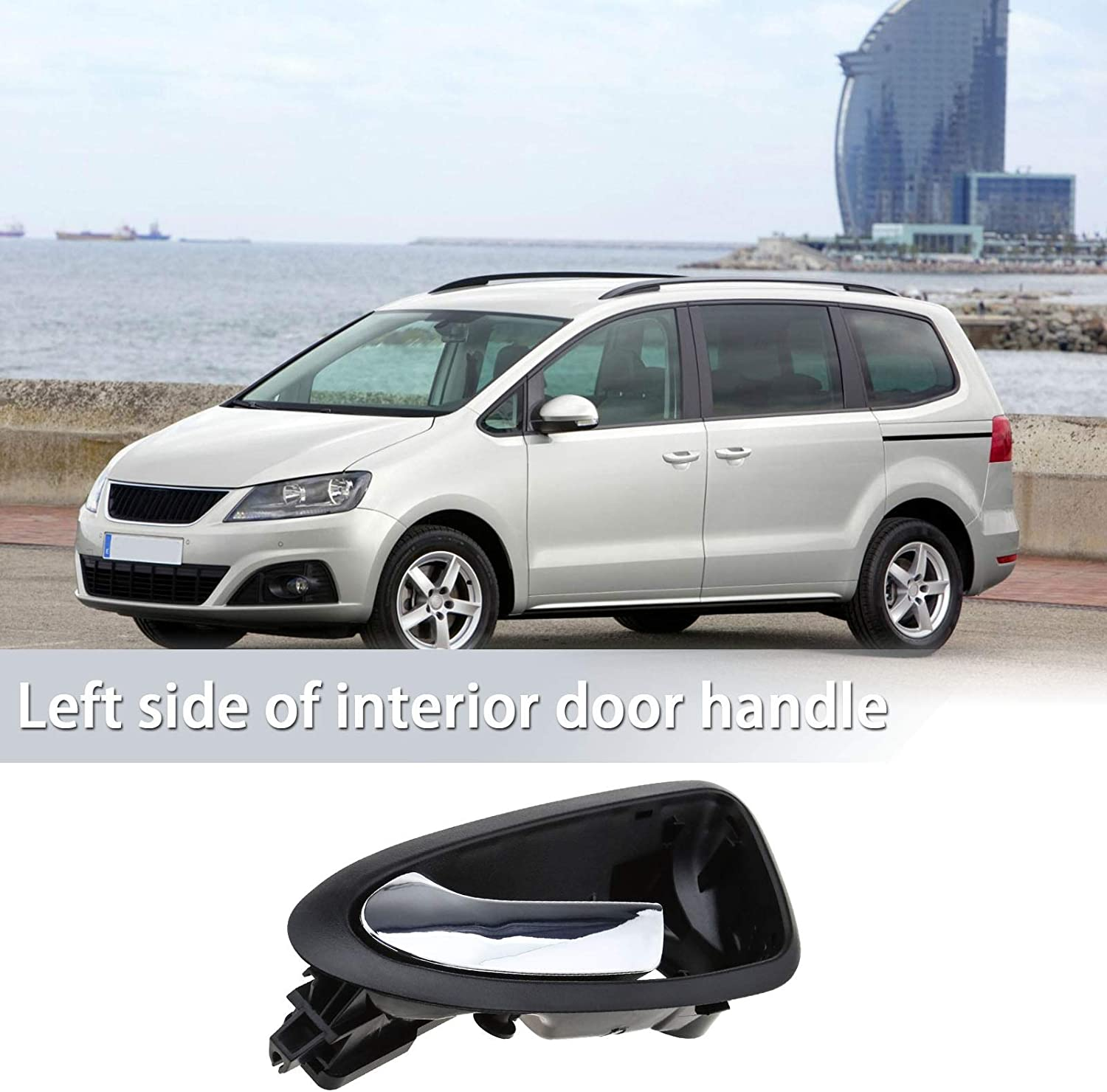 Car Auto Front Interior Inner Door Handles for Left /& Right Inside Compatible with Ibiza 2009-2012 6J1837113A