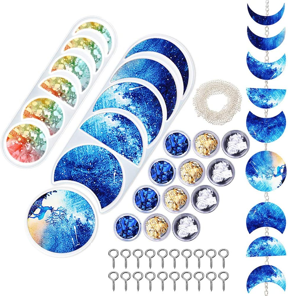 DoreenBow Translated Moon Phase Resin Silicone Full Popular standard Epoxy Molds